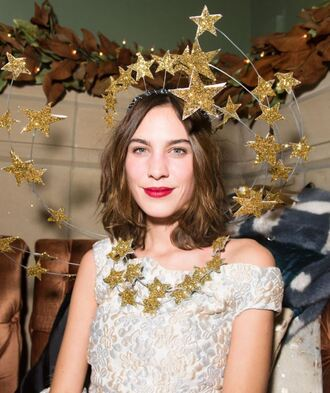 dress alexa chung necklace stars new year's eve