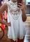 Out sleeveless lace dress