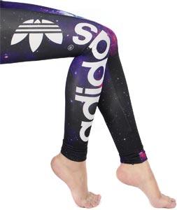 Adidas Galaxy W leggings black purple
