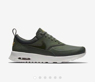 shoes nike green nike air max thea nederland the netherlands army green air max nike shoes low top sneakers khaki