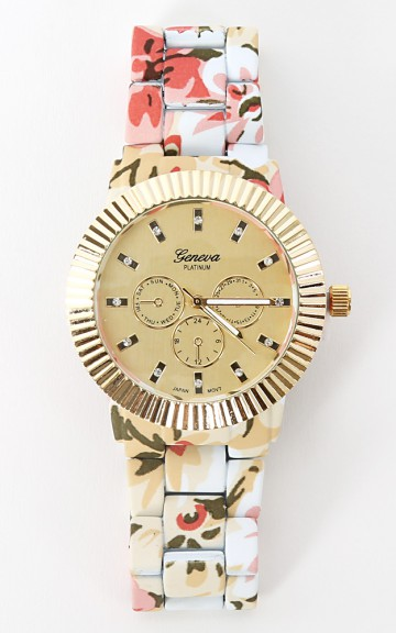 Metal Floral Watch | MakeMeChic.com