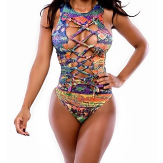 swimwear jewel neck beach fashion stylish sexy multicolor hot