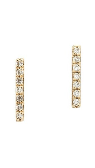 clear earrings stud earrings gold jewels