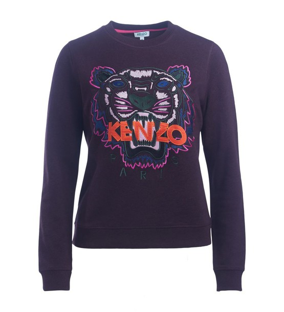 sweatshirt tiger violet sweater