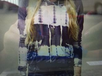 shirt navy and ivoryhoodie navy ivory tie dye hoodie