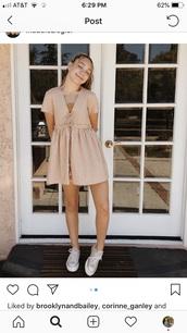 dress,Maddie ziegler,peach,ties,v neck