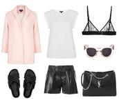 oracle fox,coat,t-shirt,sunglasses,bag,shorts