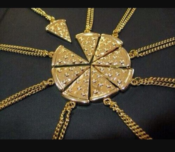 food fashion cute style jewels pizza gold best friends