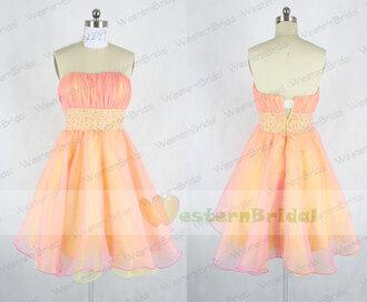 two tones prom dress two tones dress yellow prom dress short prom dresses 2014 prom dress homecoming dress organza prom dress sweet 16 dresses sequins short party dress