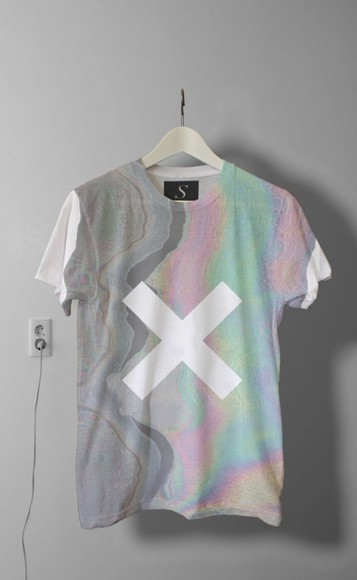 tee t-shirt cool x pattern sprinh spring tumblr clothes spring fashion