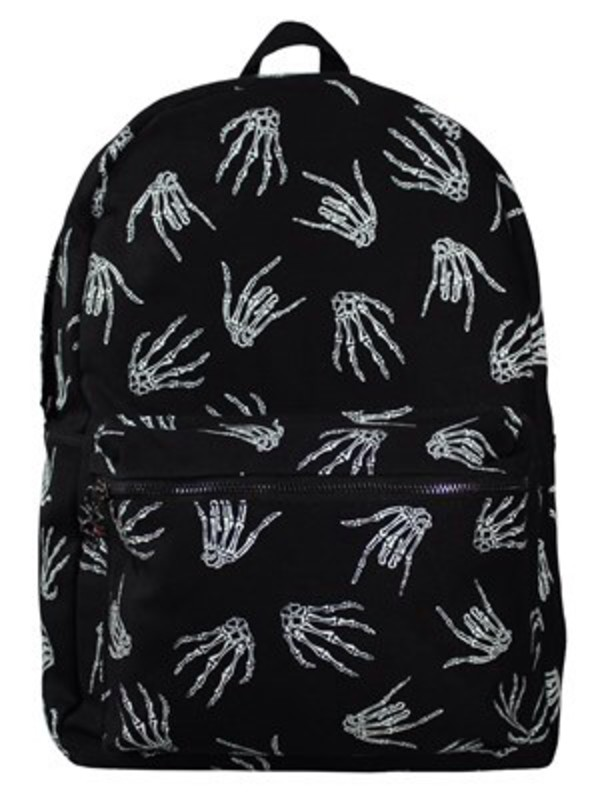 bag backpack skeleton skull hand halloween