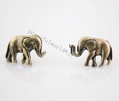 E1429 New Arrival Retro Vintage Bronze Cute Elephants Stud Earrings | eBay