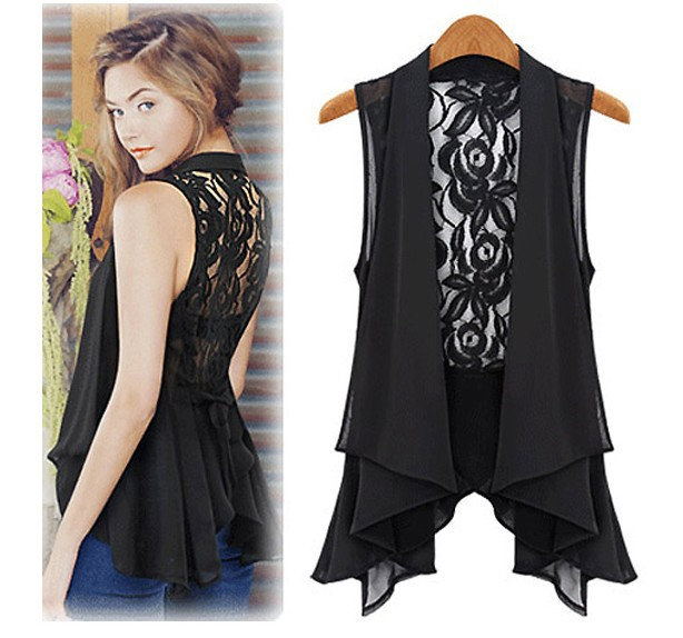 SMT217 Summer Fashion Top Chiffon Casual Sleeveless Plus Size Shirts For Women Brand Quality  Lace Vest Tank-in Tank Tops from Apparel & Accessories on Aliexpress.com