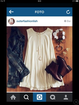 dress boho chic boho dress hippie fashion style white dress tumblr outfit outfit shirt