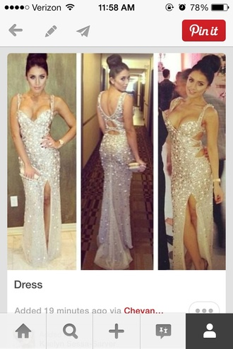 dress sparkly long dress silver silver glitter long prom dress prom dress mermaid prom dress leg slit prom gown sparkly dress