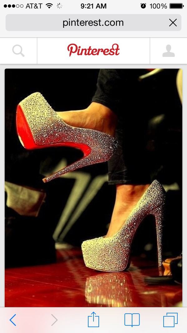 shoes silver sparkle