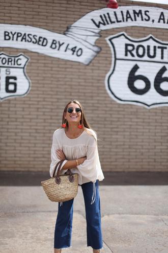 b a r t a b a c blogger blouse jeans top jewels shoes bag sunglasses