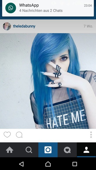 t-shirt hate hate me blue blue t-shirt