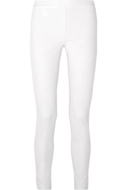 The Row - Stratton Stretch Cotton-blend Leggings - White