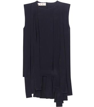 blouse black top