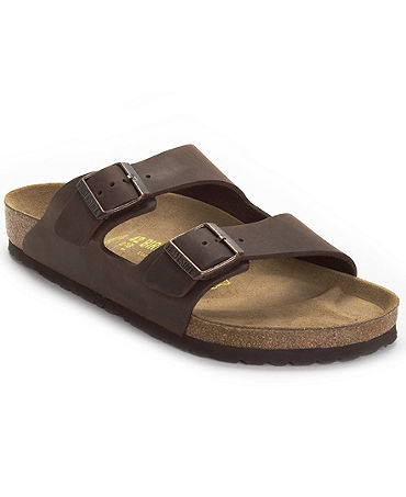 Birkenstock Arizona Two Band Oiled Leather Sandals - Shoes - Men - Macy's
