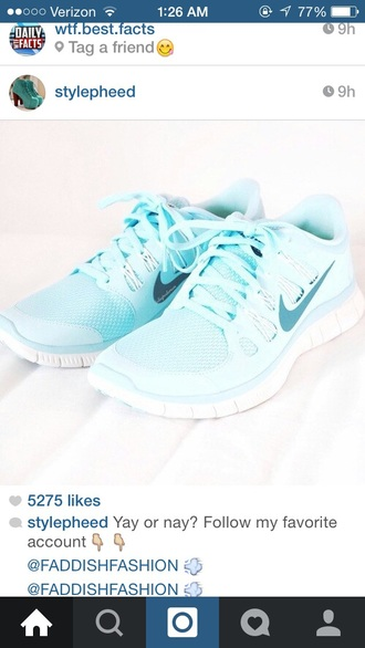 shoes shoe light blue baby blue running shoes active nike running shoes