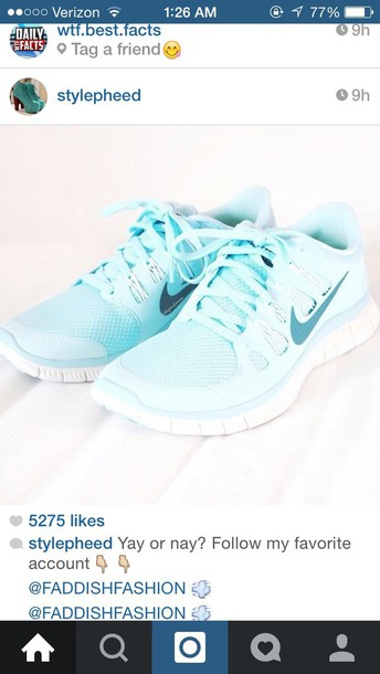 shoes shoes light blue baby blue running running shoes active nike running shoes