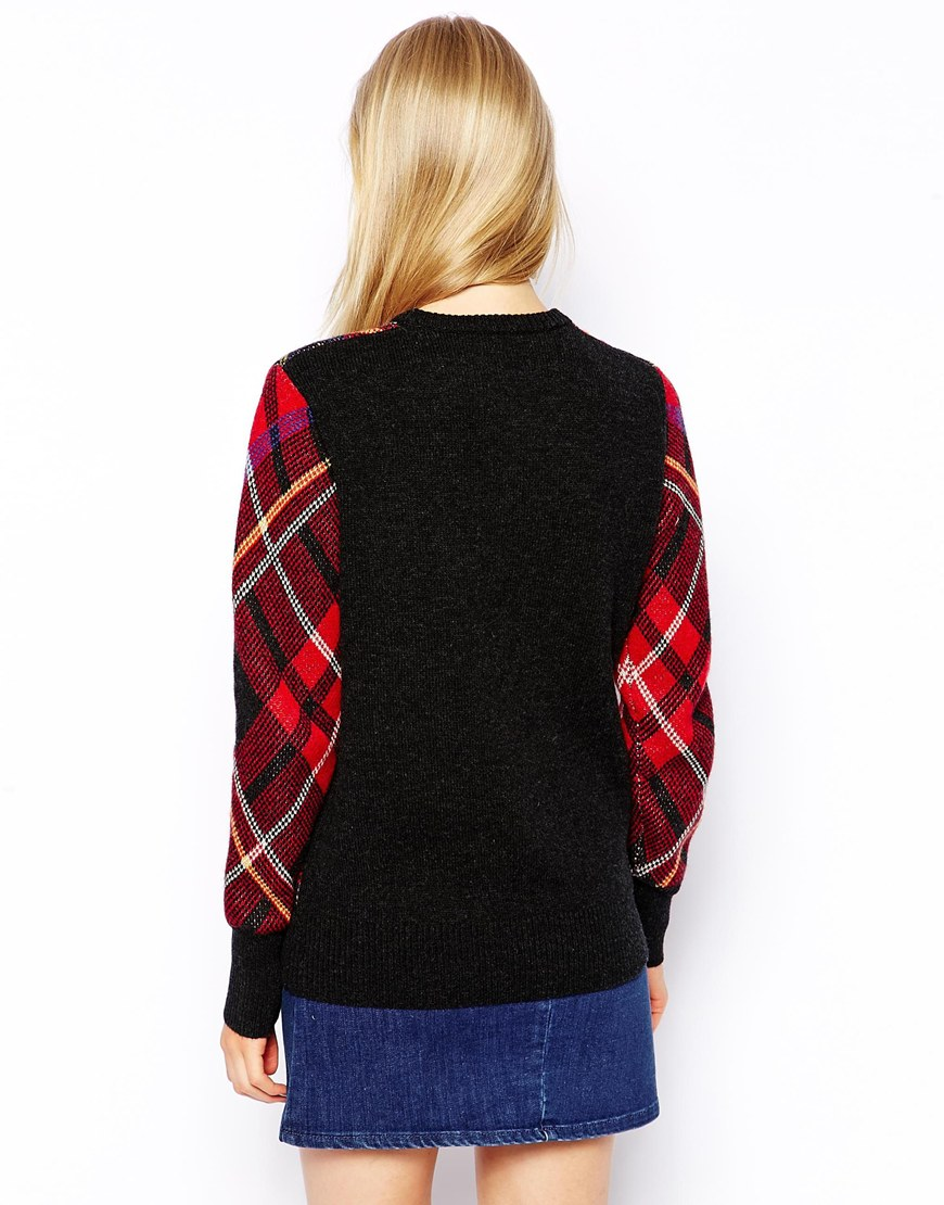 Fred Perry Tartan Jumper at asos.com