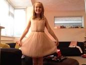 dress,pale pink dress,jeweld,cute