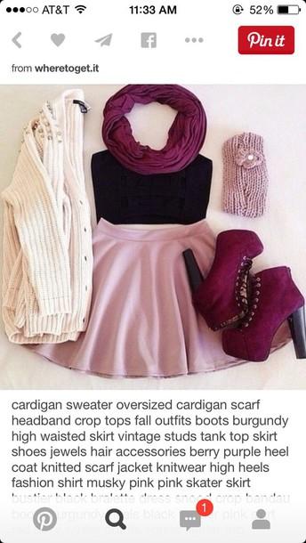 cardigan skirt
