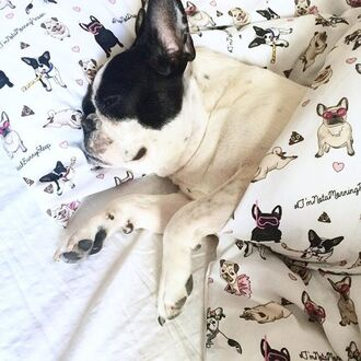home accessory yeah bunny comfy cute bedding cotton sog pugs frenchie love kiss poop emoji print frenchbulldog