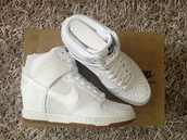 nike wedge sneakers,all white everything,tennis shoes,sneakers,wedges