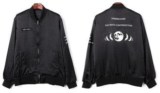 jacket unisex jacket black and white black and white fashion black and white jacket moon print text print word print unisex men shirts mens jacket