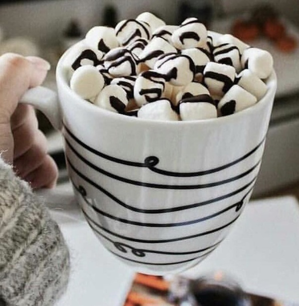 home accessory white black hot chocolate mug coffee tea tea mug coffeee mug