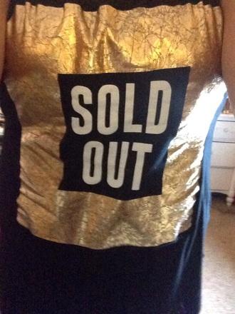 shirt gold black shirt