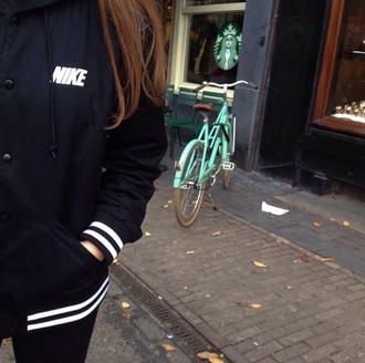 jacket nik black black jacket black nike white grunge
