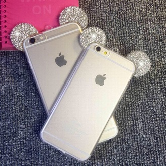phone cover sparkle mickey mouse cute