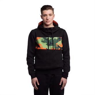 sweater black military style hood hoodie print streetstyle streetwear fusion camouflage hooded sweatshirt printed sweater long sleeves