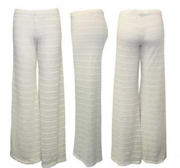 Michael lauren derby wide leg pants in crotchet vanilla lace