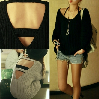 shorts sweater clothes i4out look lookbook swag jacet backless cardigan celebrities style streetstyle pullover jumper