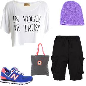 ASOS Fashion Finder | LOU LOU White 'In Vogue We Trust' Crop Tee
