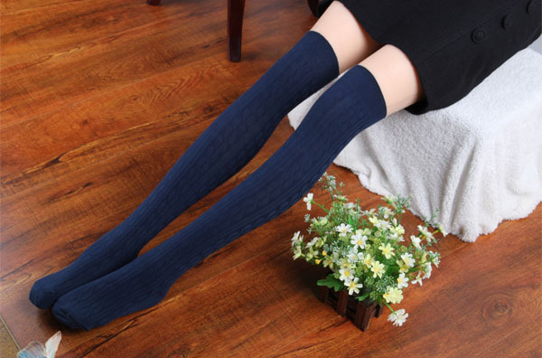 Cable knit over knee winter cotton socks ❤ tattoosocks ❤ online store powered by storenvy