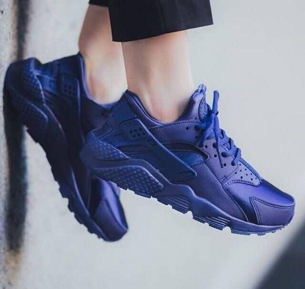 buy popular 78b09 9b549 shoes triple blue huaraches custom huaraches blue huaraches huarache nike  air huaraches navy