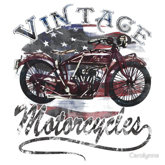 """Vintage Motorcycle T Shirt"" T-Shirts & Hoodies by Carolynne 
