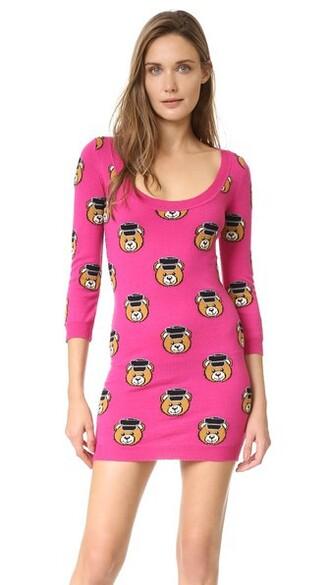 dress bear pink