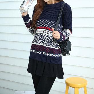 leisure sweater knitwear folk