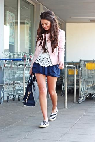 fashionhippieloves jacket blouse shorts shoes bag jewels