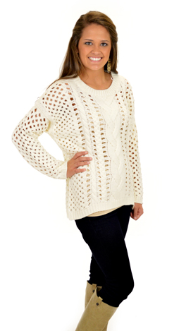 Just a Dash-er Sweater :: Tops :: The Blue Door Boutique