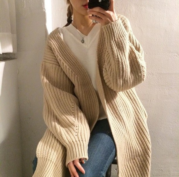 c8c32b8b coat knitwear knitted cardigan knitted sweater knit cable knit cable knit  cardigan kni beige cable cardigan