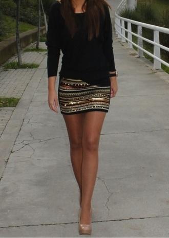 shirt beaded skirt aztec skirt beaded aztec skirt bling skirt embroidery skirt sequined mini skirt sequined skirt mini skirt sequined aztec skirt skirt